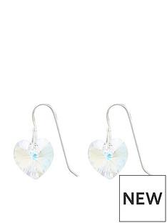 accessorize-sterling-silver-swarovski-heart-drop-hoops-silver