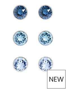 accessorize-3-pack-sterling-silver-mini-swarovski-stud-set-blue