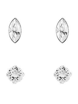 accessorize-sterling-silver-swarovski-crystal-shapes-stud-set-2-pack