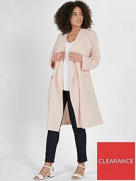 evans-longline-stud-crepe-jacket-blush