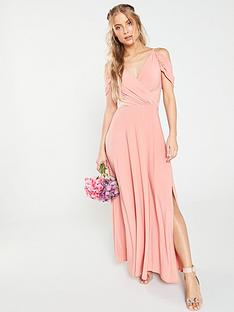 c7bb869a30 V by Very OCCASION COLD SHOULDER JERSEY MAXI DRESS