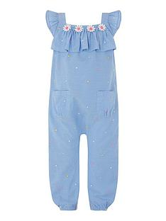 06a2c0bcf55 Monsoon Baby Girls Elsie Playsuit - Blue