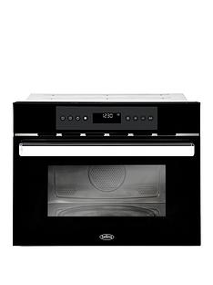 belling-bel-bi45comw-45cm-built-in-single-electric-oven-and-microwave-black