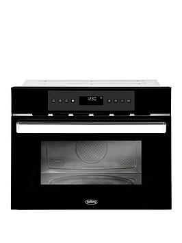 belling-bel-bi45comw-60cm-built-in-single-electric-oven-and-microwave-black
