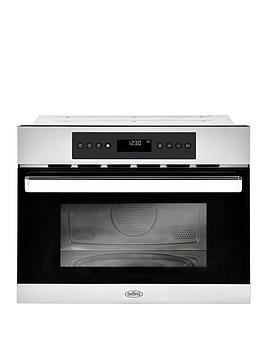 belling-bel-bi45comw-45cm-built-in-single-electric-oven-and-microwave-stainless-steel