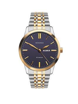 sekonda-sekonda-blue-and-gold-detail-daydate-dial-two-tone-stainless-steel-bracelet-mens-watch