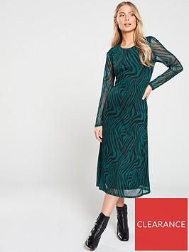 v-by-very-zebra-print-mesh-midi-dress-teal