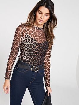 v-by-very-turtleneck-mesh-top-leopard
