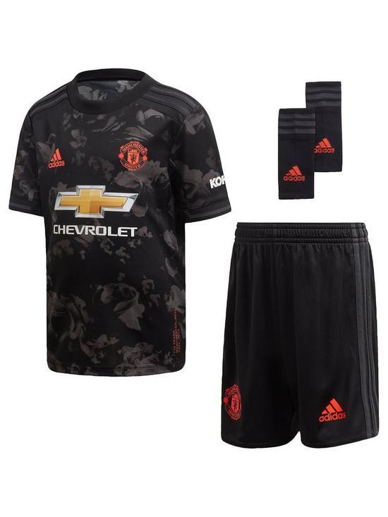 premium selection c0c3d 71c2d Manchester United Infants 2019/20 3rd Mini Football Kit - Black