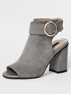 b5af17e9f99d21 River Island Buckle Shoe Boot - Grey