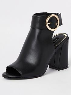 71fbd8eabcc River Island Buckle Shoe Boot - Black
