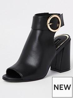River Island Buckle Shoe Boot - Black 695fbd3b5626