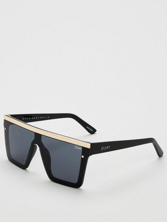 589a71d8840d2 QUAY AUSTRALIA Hindsight Shield Sunglasses - Black