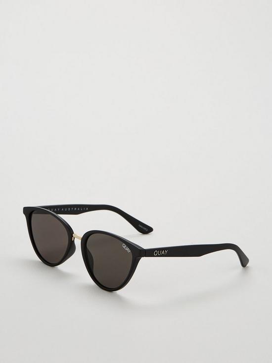 9672014772ef0 QUAY AUSTRALIA Rumours Cat Eye Sunglasses - Black