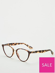 quay-australia-rumours-blue-light-cateye-glasses-tortoiseshell
