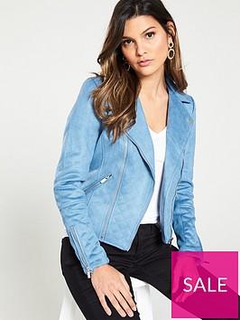 river-island-suedette-biker-jacket--blue
