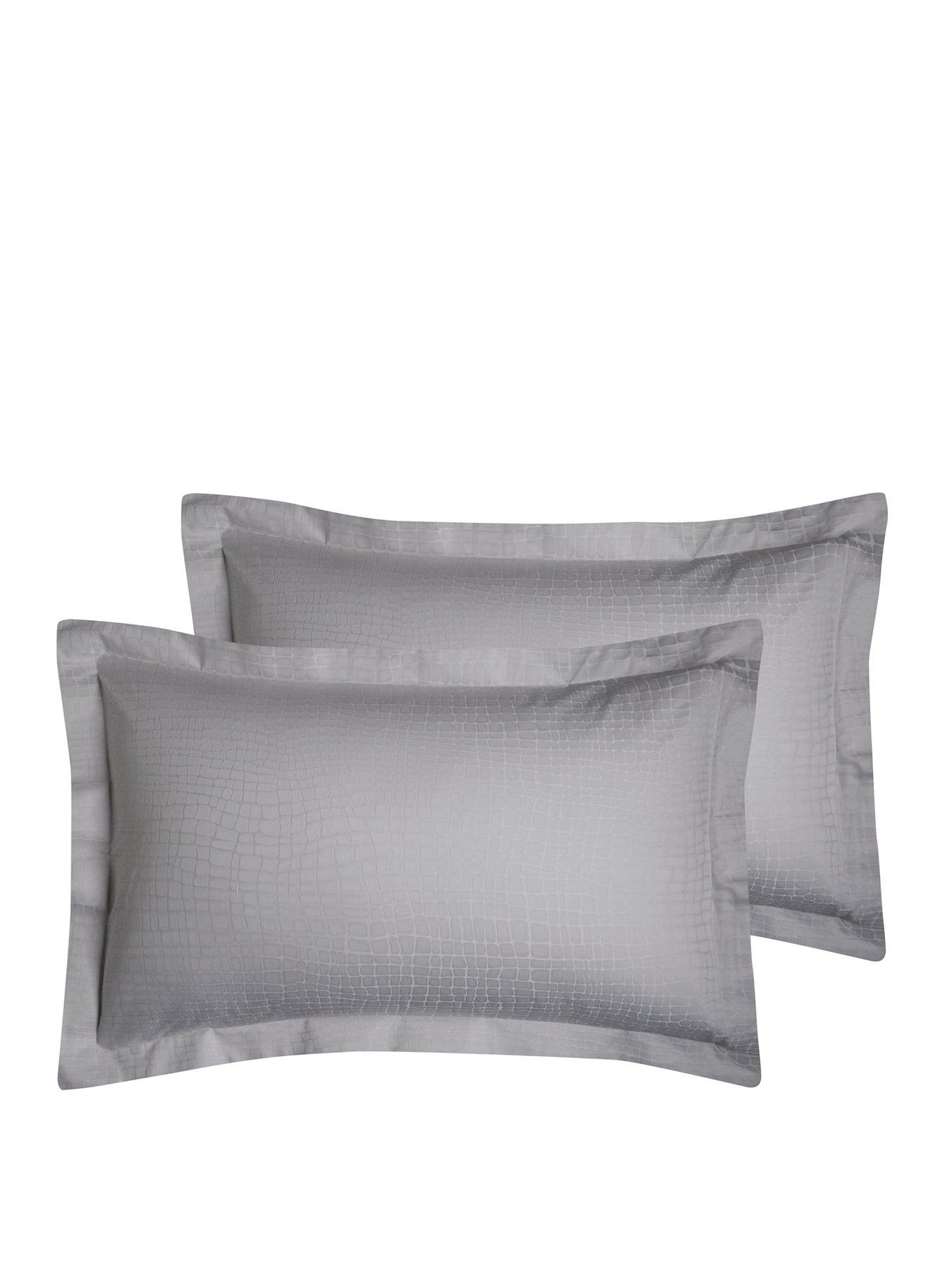 Hotel Collection Snakeskin 300 Thread Count Oxford Pillowcases (Pair)