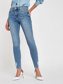river-island-river-island-molly-frayed-hem-jeggings--mid-blue