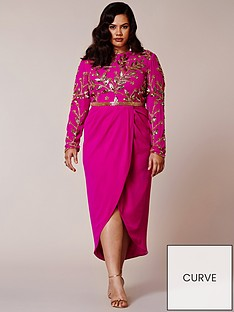 virgos-lounge-curve-virgos-lounge-curve-embellished-long-sleeve-midi-dress