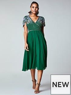 virgos-lounge-virgos-lounge-wrap-front-embellished-midi-dress