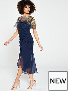 virgos-lounge-embellished-ruched-midi-dress-navy