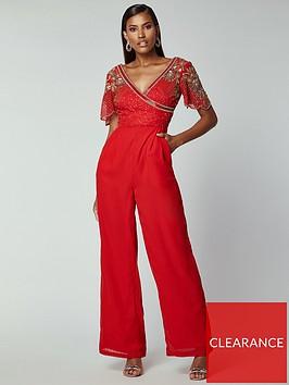 virgos-lounge-virgos-lounge-embellished-wrap-top-jumpsuit