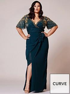 virgos-lounge-curve-virgos-lounge-curve-embellished-wrap-maxi-dress-with-split