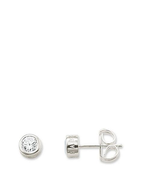 thomas-sabo-thomas-sabo-sterling-silver-round-logo-stud-earrings