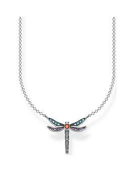 thomas-sabo-thomas-sabo-sterling-silver-multicoloured-dragonfly-pendant-necklace