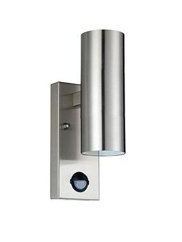 luceco-exterior-stainless-steel-gu10-wall-light-ip54-updown-pir