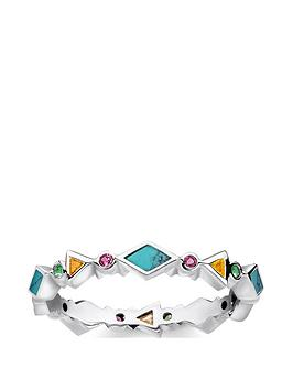 thomas-sabo-thomas-sabo-sterling-silver-multicoloured-stone-stacking-ring