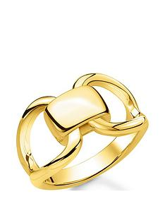 thomas-sabo-thomas-sabo-18k-gold-plated-sterling-silver-heritage-link-ring