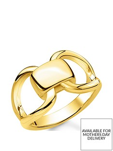 thomas-sabo-thomas-sabo-18k-gold-plated-sterling-silver-heritage-link-ring