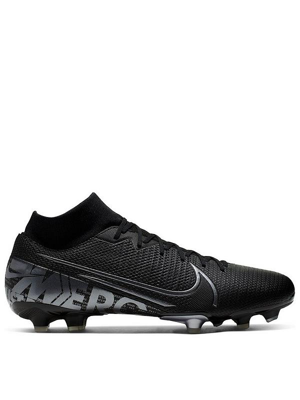 nike mercurial football boots black and white