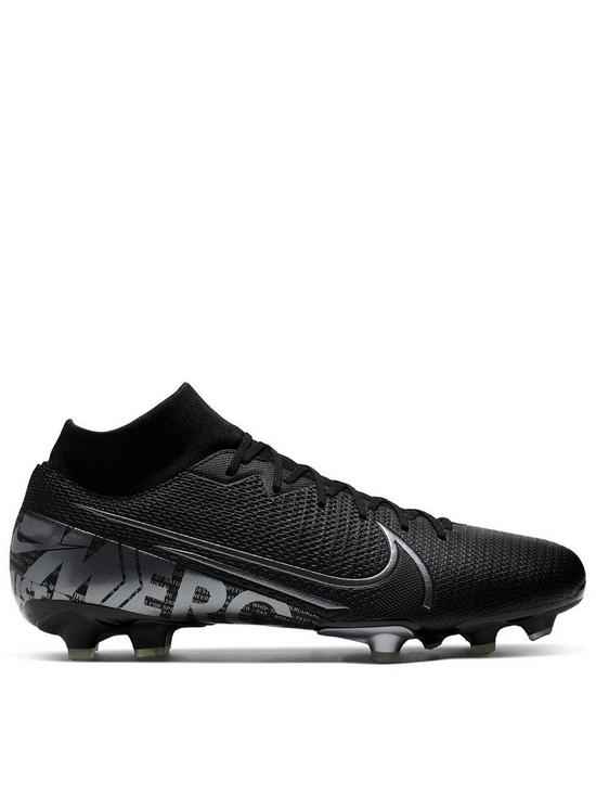 outlet store b0f5e 79d85 Mercurial Superfly 7 Academy Firm Ground Football Boot - Black