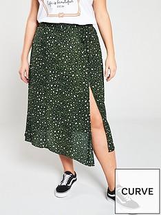 b79c1c0f25e V by Very Printed Side Split Skirt - Animal