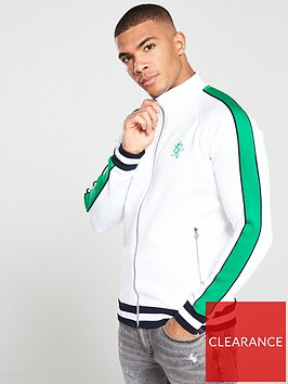 gym-king-strickland-funnel-neck-track-top-whitegreen