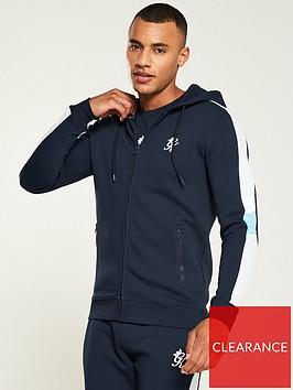 gym-king-capone-zipped-hoodie-navygrey