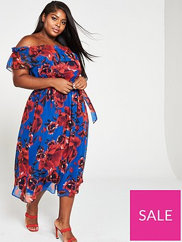 v-by-very-curve-curve-bardot-print-chiffon-midi-dress-floral-print