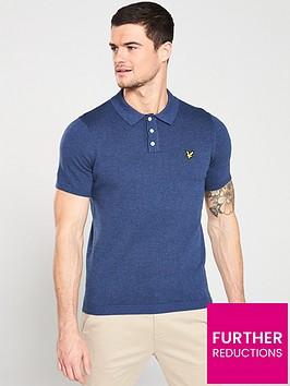 lyle-scott-vintagenbspknitted-polo-shirt-navy