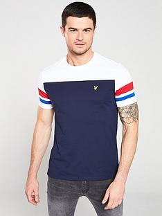 lyle-scott-contrast-band-t-shirt-navywhite