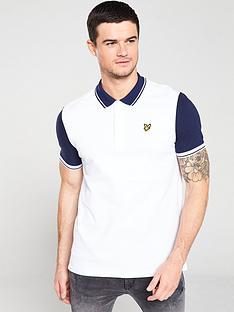 lyle-scott-tipped-polo-shirt-whitenavy