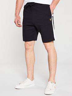 lyle-scott-sweat-shorts-blackwhite