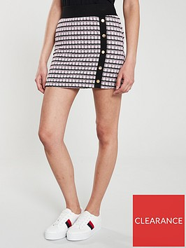 v-by-very-check-button-mini-skirt