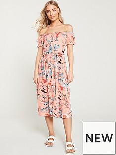 db0d0467ca6 Oasis Mellow Meadow Bardot Midi Dress - Multi