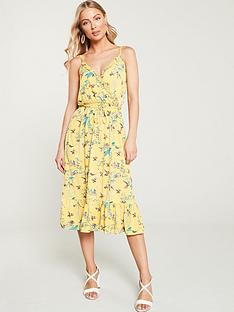 3c5e0c303 Oasis Botanical Floral Ruffle Jersey Wrap Dress - Multi