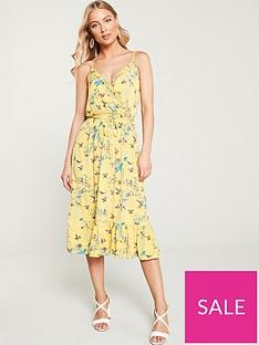 fe29ecdd Oasis Botanical Floral Ruffle Jersey Wrap Dress - Multi