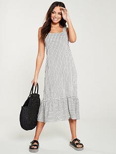 v-by-very-textured-stripe-midi-dress-white-navy