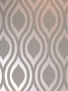 arthouse-luxe-ogee-rose-gold-wallpaper
