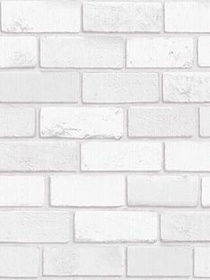 arthouse-diamond-brick-white-wallpaper